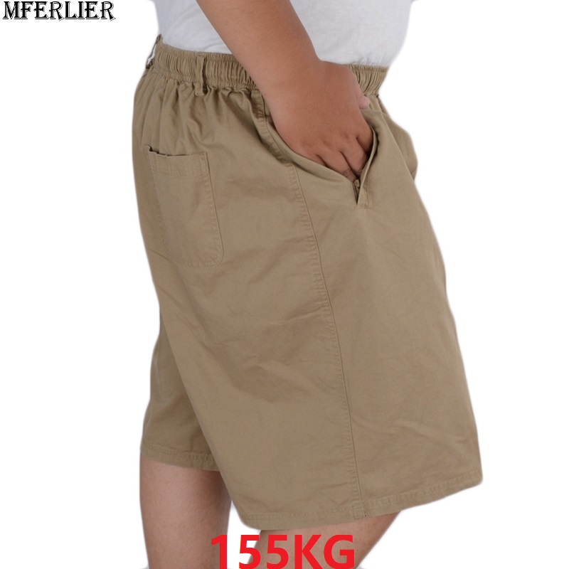 Summer Men's Shorts Thin Oversize Casual 10XL 11XL 12XL Plus Size Big Shorts 9XL 8XL 150KG Khaki Man Loose Shorts 54 56 58 60 62