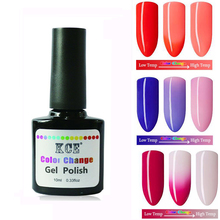 Nail Gel Polish Temperature Change Nail Color UV Gel Polish Gradient Nail Gel for Nail soak off gel polish 7.5ml /1pc