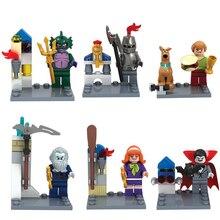 2016 Bela 10449-10454 Scooby Doo Minifigures Scooby Doo Fred/Shaggy Building Block Bricks Toys Enlighten  Toys