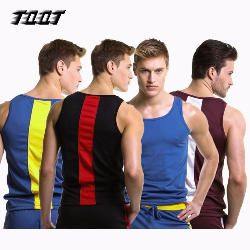 TQQT Mens Patchwork   Tops   Plus Size   Tank     Tops   Leisure Mens Fitness Vest Male   Tank     Tops   Gyms Clothing Mens Undershirt 5J0430