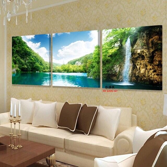 Холст декоративные картинки на стене искусство картины маслом Модульная картина напечатаны на bilder современный 3 шт. дома картину украшения