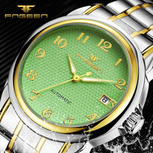 FNGEEN Casual Fashion Watches Man's Luxury Brand Watch Automatic Mechanical Men Wristwatches Waterproof Calendar Clock relogio brand men watch guanqin luxury watches fashion casual sports wristwatches boy mechanical watch leather waterproof clock gj16025