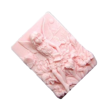 silica gel soaps mold flower fairy pattern Soap Making Tool Square Handmade Craft Silicone Mold