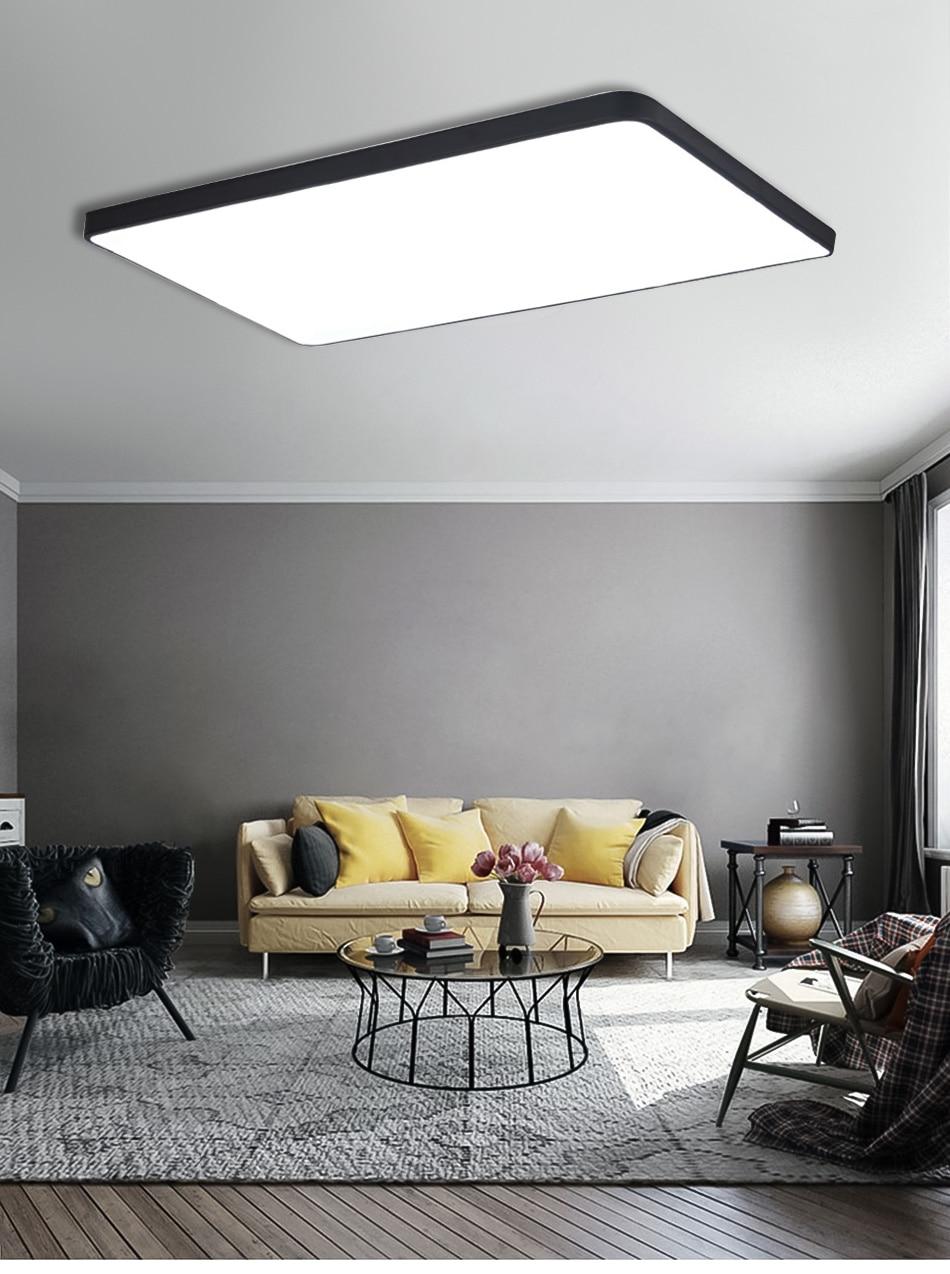 HTB19HGmaLvsK1Rjy0Fiq6zwtXXai LED Ceiling Light Modern Lamp Living Room Lighting Fixture Bedroom Kitchen Surface Mount Flush Panel Remote Control