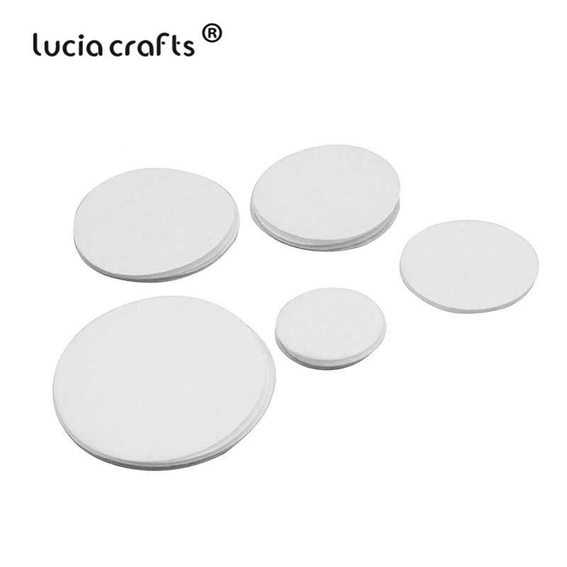 Lucia crafts 50pcs/100pcs 2-6cm White Non Woven Felt Pads Fabric Cloth Craft DIY Home Sewing Patch Accessories B1203