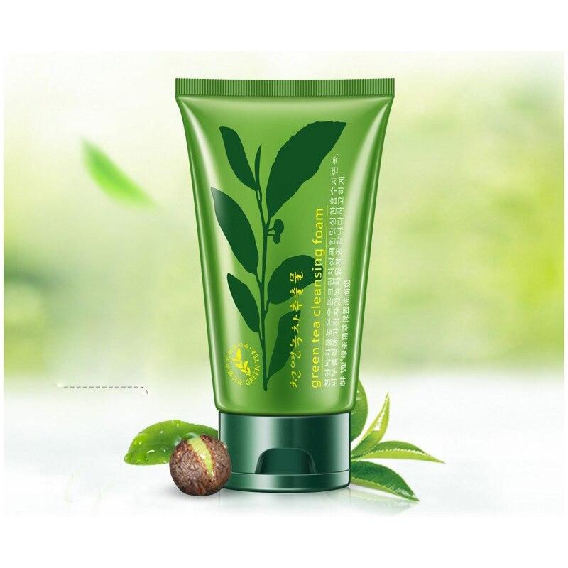 Extrato da Planta do Chá Limpador Verde Limpador Facial Branqueamento