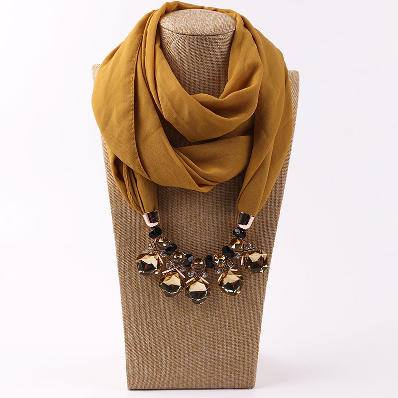 HTB19HH5LQvoK1RjSZPfq6xPKFXan - RUNMEIFA Multi-style Jewelry Statement Necklace Pendant Scarf Women Bohemia Neckerchief Foulard Femme Accessories Hijab Stores