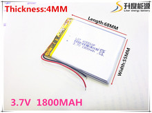 Newest 405568 tablet battery 3.7V 1800 mAh Li ion Rechargeable Accumulator For Mobile Power Bank DIY E-book