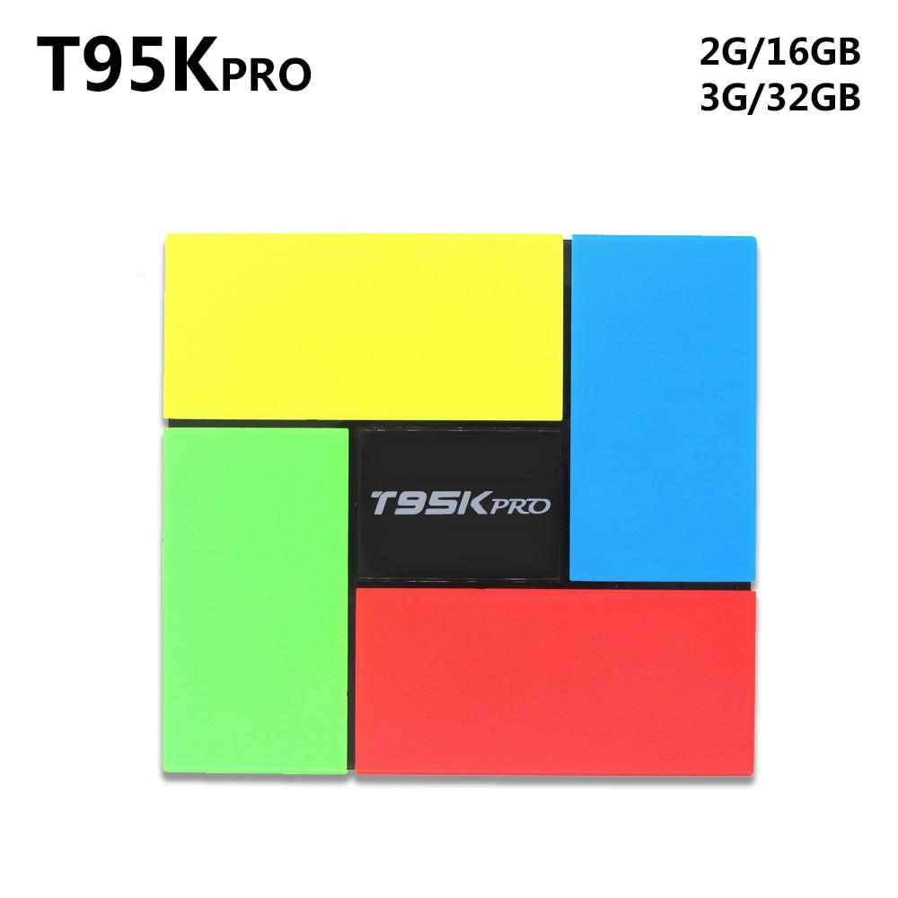 T95K PRO 2GB/3GB 16GB/32GB Amlogic S912 Octa Core Andorid 6.0 TV BOX 2.4G/5GHz Dual WiFi BT4.0 4K H.265 VP9 HDR t95 metal case amlogic s905 quad core andorid 5 1 tv box 2gb 8gb 2 4g 5ghz dual wifi kodi 16 0 add ons pre installed