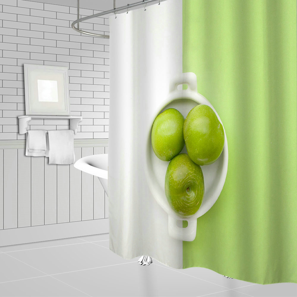 Sleek Minimalist Design Beautiful Green Apple Pattern Hanging Shower