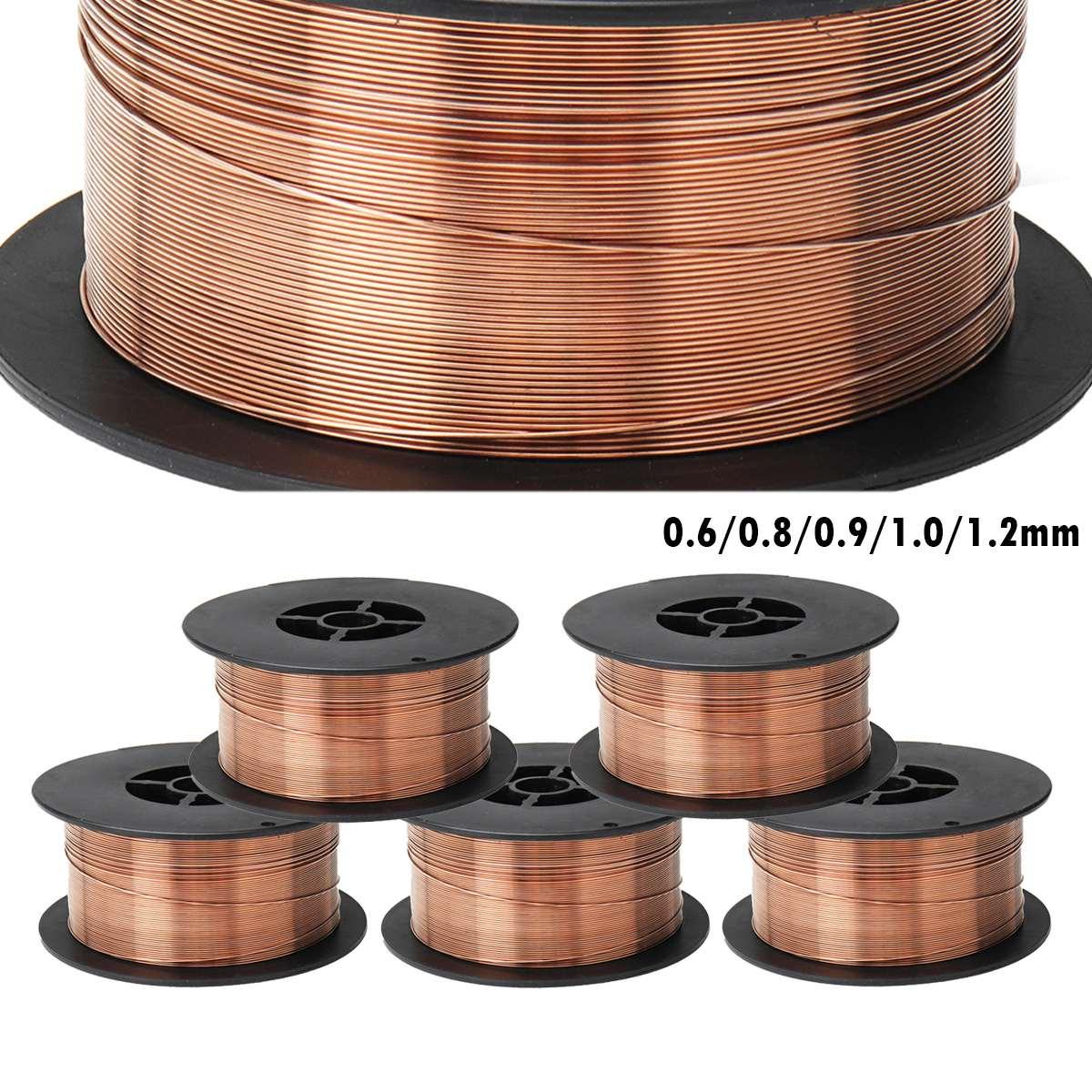 0.6/0.8/0.9/1.0/1.2mm 1 KG Gás Blindado do Fio de Soldadura de Aço de Carbono do Aço Suave ER70S-6/ER50-6 Fios de Solda MIG