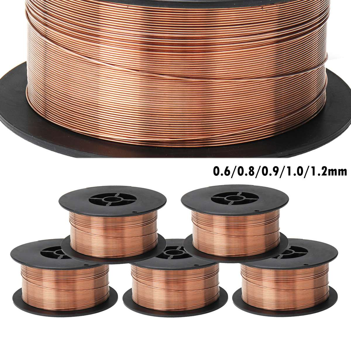 0.6/0.8/0.9/1.0/1.2mm 1KG Carbon Steel Gas Shielded Welding Wire Mild Steel ER70S-6 / ER50-6 MIG Welding Wires