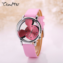 Woman Quartz Analog Hollow Style leather WristWatch fashion ladies Gfit Casual watch female Relogio Feminino Relojes Mujer Clock