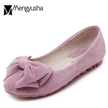 742907105d22 Velvet Bow-knot foldable shoes Ballets women OL Flats roll-up moccasins  Portable Ballerina Flats loafers woman plus size 40 2018