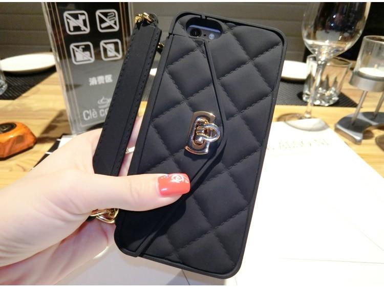 3D Purse Handbag Ponsel Lembut Silicone Kembali Kasus Cover Kulit - Aksesori dan suku cadang ponsel - Foto 4