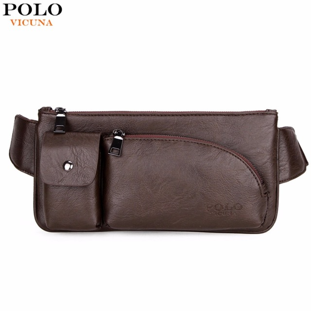 VICUNA POLO New Fashion High Capacity Men's Waist Bag Trendy Mens Fanny Pack Wasit Pack Brand Mens Crossbody bag Male Bags New