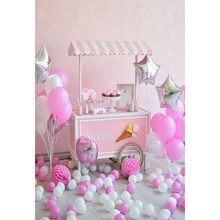 Pink Sweet Photography Backdrops Dessert Table Balloons Children Girl's Backgrounds for Photo Studio Customizable Photophone(China)