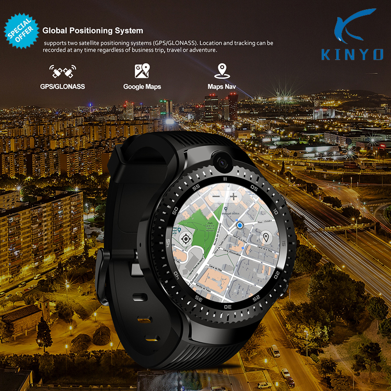 Android 7.1 LTE 4G Smart Watch 1 + 16GB Memory Support SIM card WIFI GPS Google
