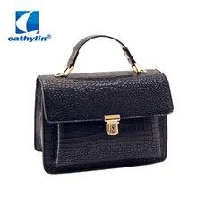 Cathylin Temperament Retro Small Fragrant Wind Car suture Chain Women Shoulder Bag Small Lady Messenger Bag