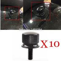 10PCS Black 1 4 20 Thread Billet Aluminum Quick Mount Rear Seat Bolt Screw Fits Fits