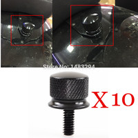 10PCS Black 1 4 20 Thread Billet Aluminum Quick Mount Rear Seat Bolt Screw Fits Fits