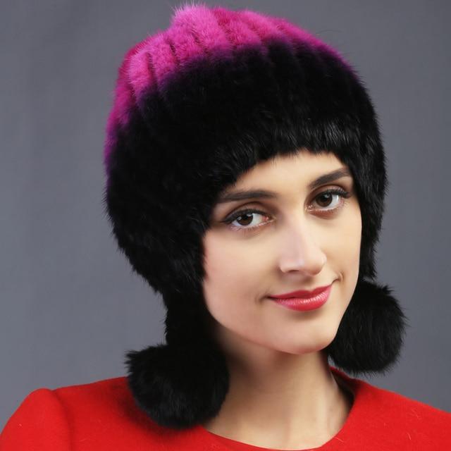 2015 autumn winter Super warm lovely ear women genuine rex mink fur muffs Rex Rabbit cap lady luxur fur hat hair band ball fur