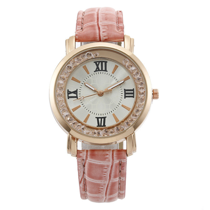 Casual Fashion Watch Rhinestones Flowing Sand Beads Womens Quartz Strap &
