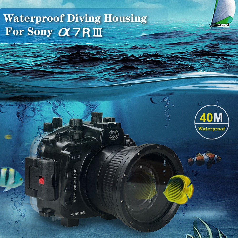 Free ship DHL Seafrogs 40m/130ft Underwater Camera Housing Case For Sony A7 III A7R III Camera meikon 40m wp dc44 waterproof underwater housing case 40m 130ft for canon g1x camera 18 as wp dc44