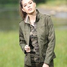 Куртки и пиджаки Короткие Женщины Green Slim Fit С Длинным Рукавом Militar Chaqueta Mujers Военная Женщины Куртка И Пальто Осень Gs-823