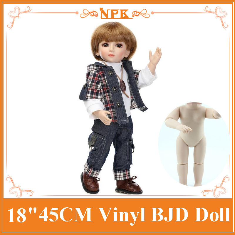 The Most Popular 18inch45cm Handsome Boy SD/ BJD Baby Cool Dolls Full Vinyl Body Reborn Can Enter into Water Kid Toy Child Gift