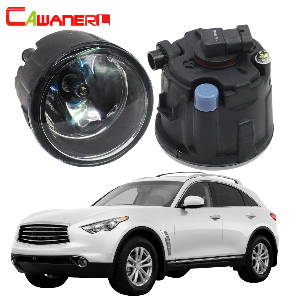 Cawanerl 2 X H11 100W Car Halogen Fog Light Daytime Running Lamp DRL 12V For Infiniti FX FX35 FX37 FX45 FX50 FX30D 2006-2015 for infiniti fx35 37 45 50 ex35 37 h11 wiring harness sockets wire connector switch 2 fog lights drl front bumper led lamp