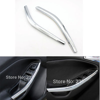 2pcs Interior Mouldings Armrest Bright Automotive Trim Strip Car Accessoires For FORD Focus 2012