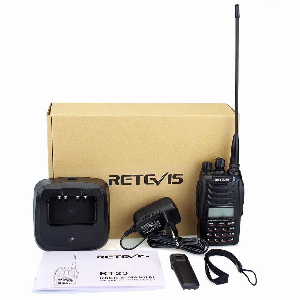 Chape RT23 double réception talkie-walkie double PTT 5W 128CH VHF UHF double bande 1750Hz DTMF Scan FM Radio multibande répéteur Func