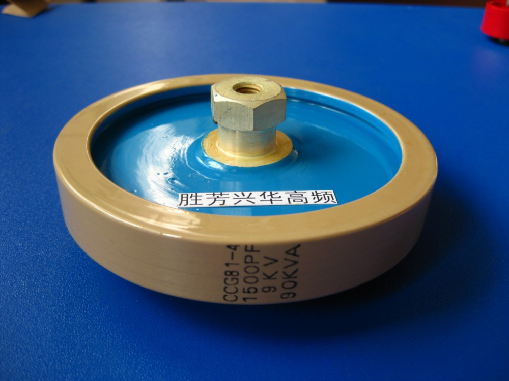 Round ceramics Porcelain high frequency machine new original high voltage CCG81-4 1500PF 9KV 90KVA zvs high frequency induction heating 1800w high frequency machine without tap zvs