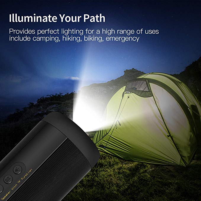 Image 3 - Waterproof Music Bass Bluetooth Speaker Outdoor Portable Led Wireless Column Loudspeakers Support TF Card FM Radio Aux Input-in Portable Speakers from Consumer Electronics