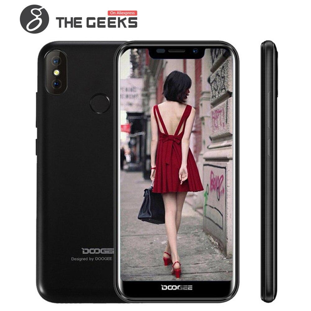 Doogee X70 Смартфон Android 8,1 5,5 19:9 полный экран 4000 мАч 2 ГБ Оперативная память 16 ГБ Встроенная память face ID двойной камеры заднего 8MP 3G мобильный теле...