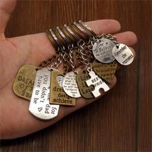 Vintage Key Car Keychains Text Tag Car Key Chain High Quality DIY Men Jewelry Car Key Chain Ring Holder Souvenir For Gift недорого