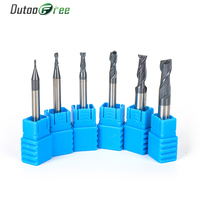 Tungsten Steel End Mill Straight Shank 2 Flute Solid Carbide CNC Milling Cutter 2mm 3mm 4mm 5mm 6mm 8mm 10mm