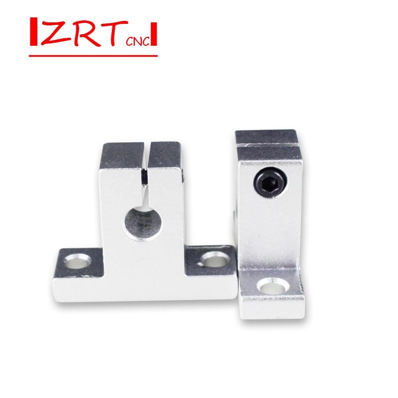 Hot 1pc SK8 SK10 SK12 SK13 SK16 SK20 SH8A 8mm linear ball bearing rail shaft Side Blocks support XYZ Table CNC 3D printer Part