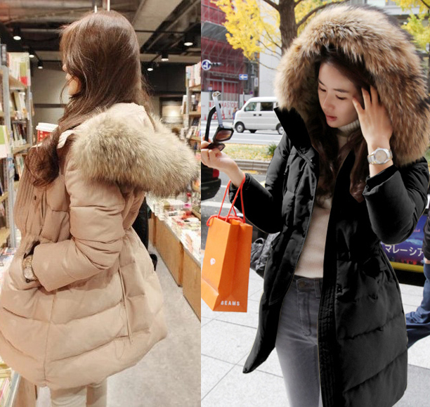 Womens Hooded Winter Coat Fur Hood Coat Womens Coat Nj. Parka ...