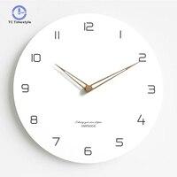 Modern Minimalist Nordic Clock Living Room Home Decoration Accessories Fashion Atmosphere Mute Quartz Wall Clocks
