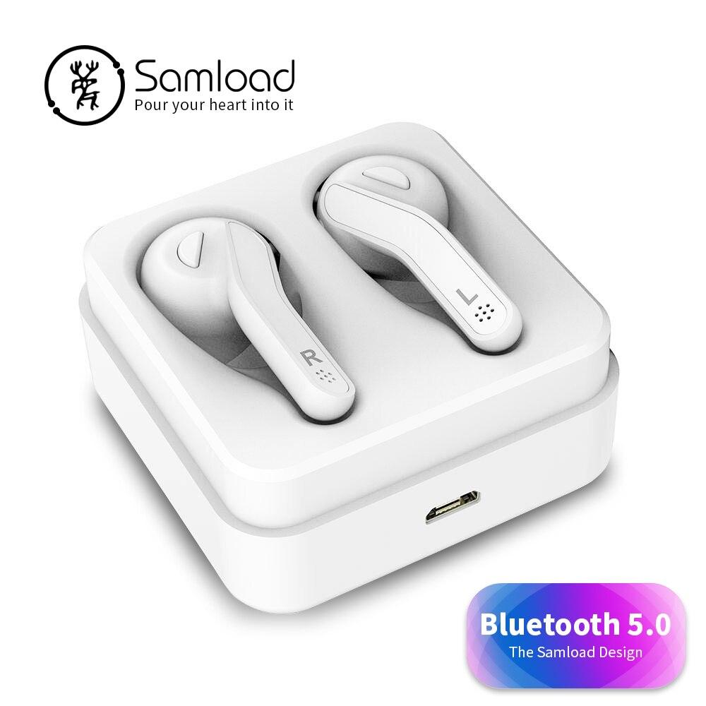 Samload T88 Casque Sans Fil Bluetooth 5.0 Écouteurs Jeux Stéréo Écouteur avec boîte De Charge Pour Apple iPhone 7 Casque Xiaomi