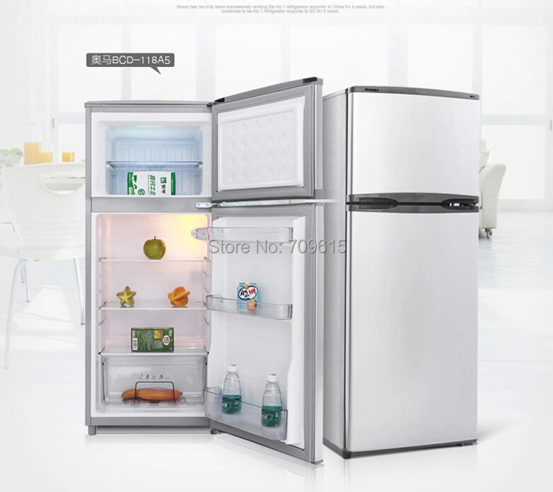 Brand household refrigeration double door refrigerator for Good small house