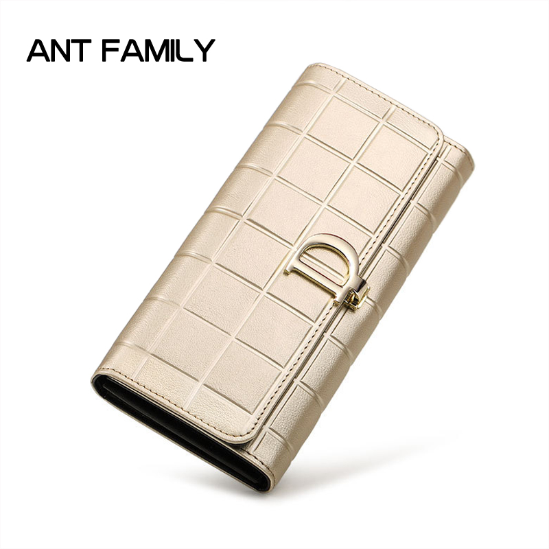 High Quality Genuine Leather Women Wallet Long Hasp Wallets Luxury Brand Plaid Coin Purse Female Clutch Ladies Leather Wallets high quality genuine leather women wallet long hasp wallets luxury brand plaid coin purse female clutch ladies leather wallets