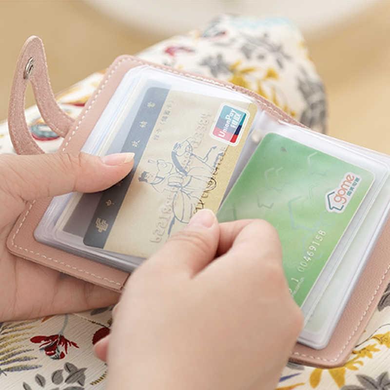 JANE'S LEDER Marke Design 24 Slots Visitenkarte Fall Tasche Candy Farbe Credit ID Bank Karte Foto Halter Brieftasche Für frauen Mann