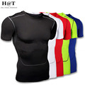 J1023 Size S-XXL Mens T-shirts Wear Compression Base Layers Tops Shirts Skins Easy Dry Tees 2016 Plus Size S-XXL