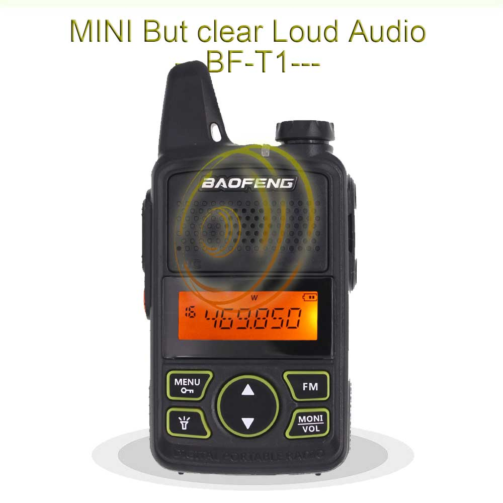 100% Original 2PCS  BAOFENG BF-T1 UHF 400-470MHZ Mini Handheld Two way Radio BFT1 Portable size Transceiver
