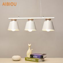 AIBIOU Nordic LED Pendant Lights For Dining Restaurant Lamp E27 Bar Light Kitchen Drop Lighting Fixtures