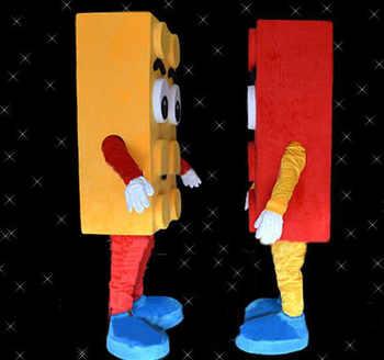 Hot Sale LEGO BLOCK Adult Cartoon Mascot Costume Fancy Dress Free Shipping