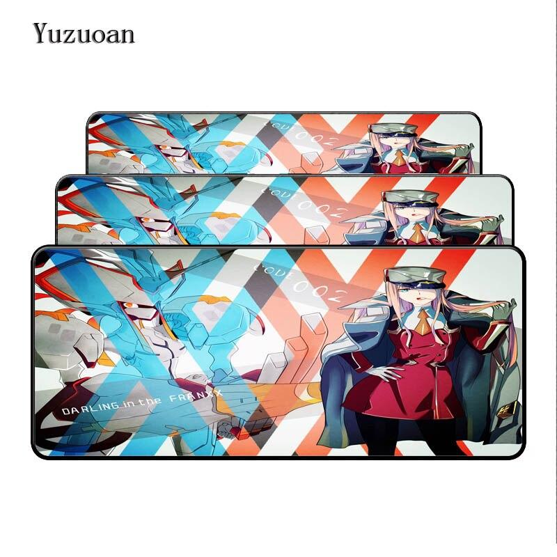 Yuzuoan 900*400*3 мм Darling в FranXX аниме Мышь площадку для Notbook компьютерная Мышь площадку большой игровой коврик оверлок края Мышь Pad